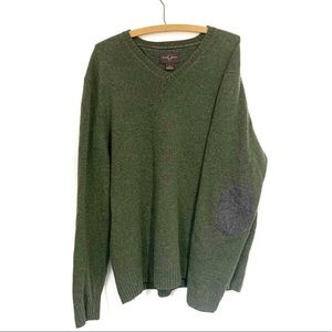 Black Brown 1826 Lambs Wool Sweater Elbow Patches